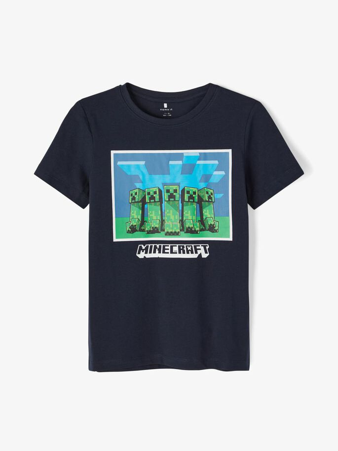 Name It Tshirt Minecraft Navy