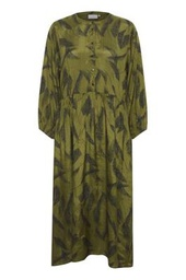 Kaffe Dress Olive Feather